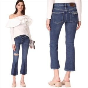 NWT Free People Flare Leg Cropped Jeans